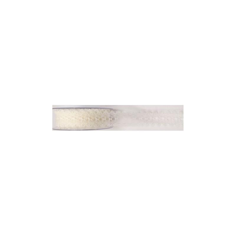 Ruban dentelle Cléo - 35 mm x 20m - grossiste fleuriste