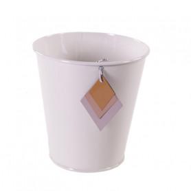 Pot rond avec pampille losange - Grossiste fleuriste contenant Renaud