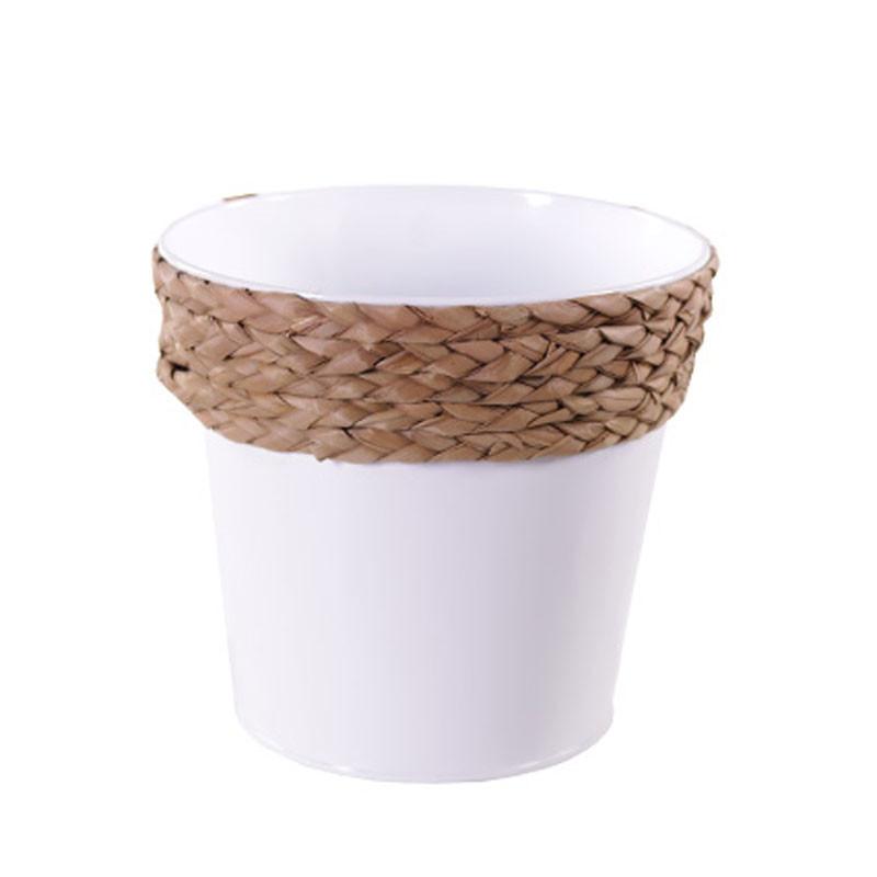 Pot rond avec corde - Grossiste fleuriste contenant composer Renaud