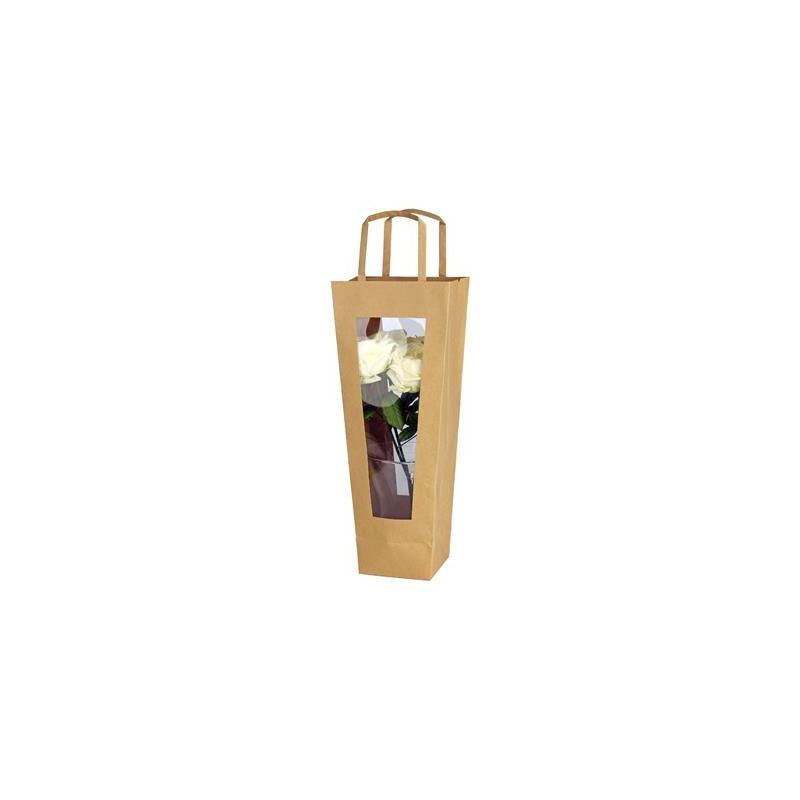 Sac kraft avec poignées Phala - accessoires grossistes fleuristes