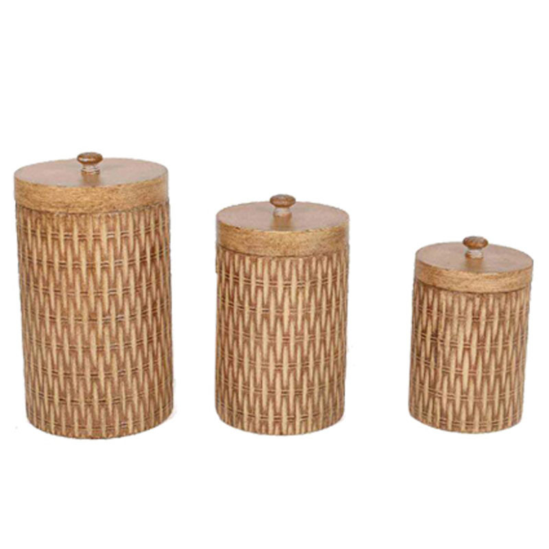 Set de 3 boîtes avec couvercle - Grossiste fleuriste contenant Renaud