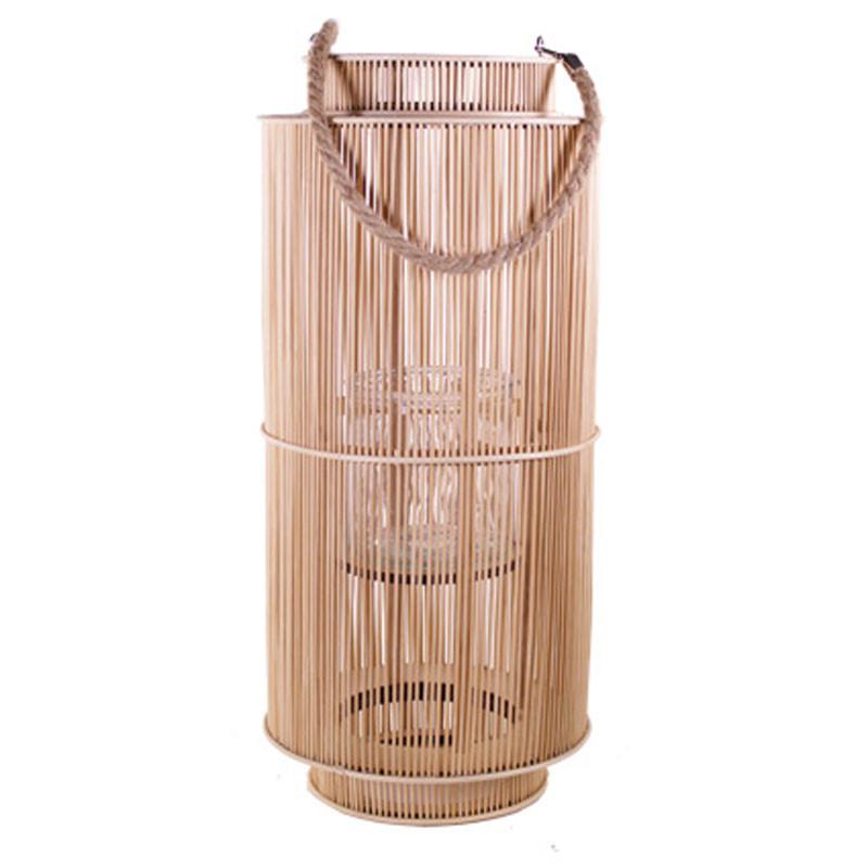 Lanterne carrée en bambou - Grossiste fleuriste décoration composer