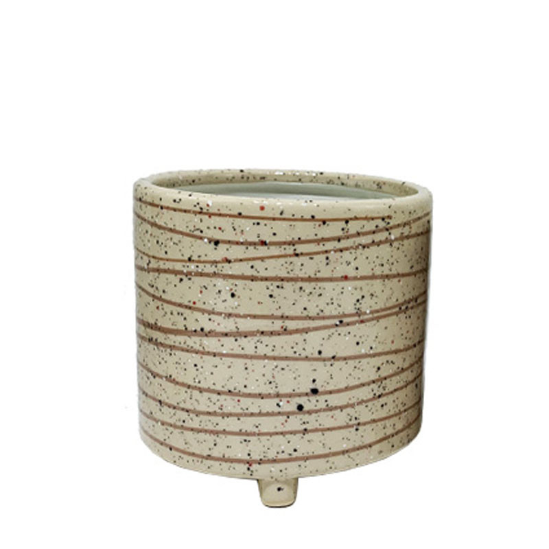 Pot cylindre avec ligne - Grossiste fleuriste céramique poterie Renaud