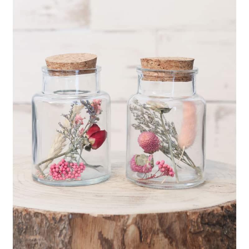 Flacon fleurs séchées Ida - Plusieurs tailles - accessoires fleuriste grossiste verrerie