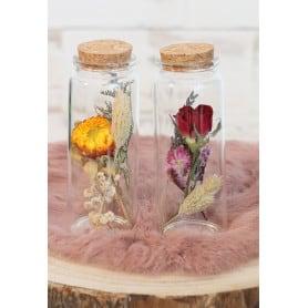 Flacon fleurs séchées Ida -...