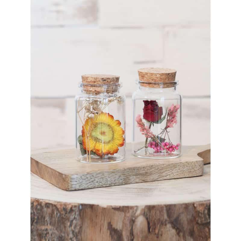 Flacon fleurs séchées Idla - Plusieurs tailles - grossiste verrerie décoration fleurs