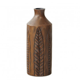 Vase bois design feuille...