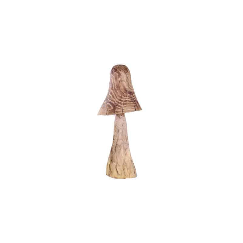 Champignon bois avec chapeau allongé - Grossiste fleuriste décoration