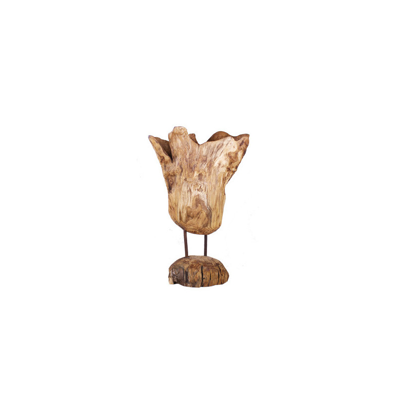 Coupelle bois sur pied Alan - Grossiste décoration fleuriste fleuriste