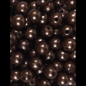 Boite de perles marron...