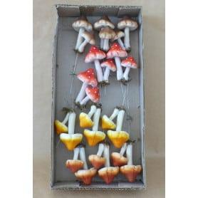 Champignon sur pic 6.5 cm x 4.5 cm x 7.5 cm