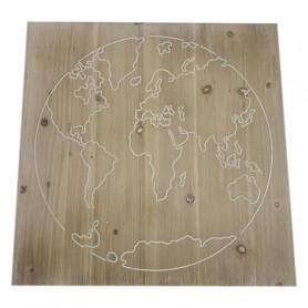 Carte du monde sur support...