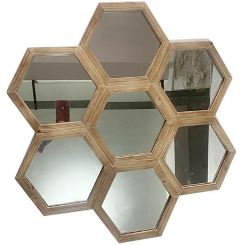 Miroir nid d'abeille - Grossiste fleuriste décoration intérieur Renaud