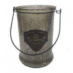 Photophore vintage à anses - Grossiste fleuriste contenant verrerie