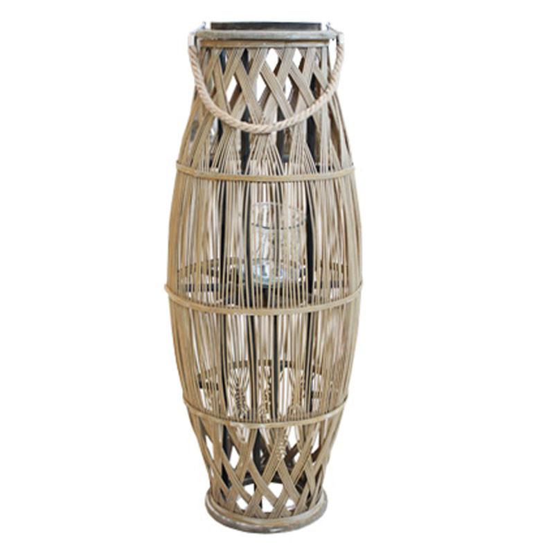 Lanterne avec anse corde - Grossiste fleuriste décoration Renaud