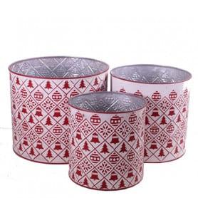set de 3 pots zinc avec...