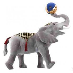 Eléphant cirque - Grossiste fleuriste décoration vitrine animaux Noël