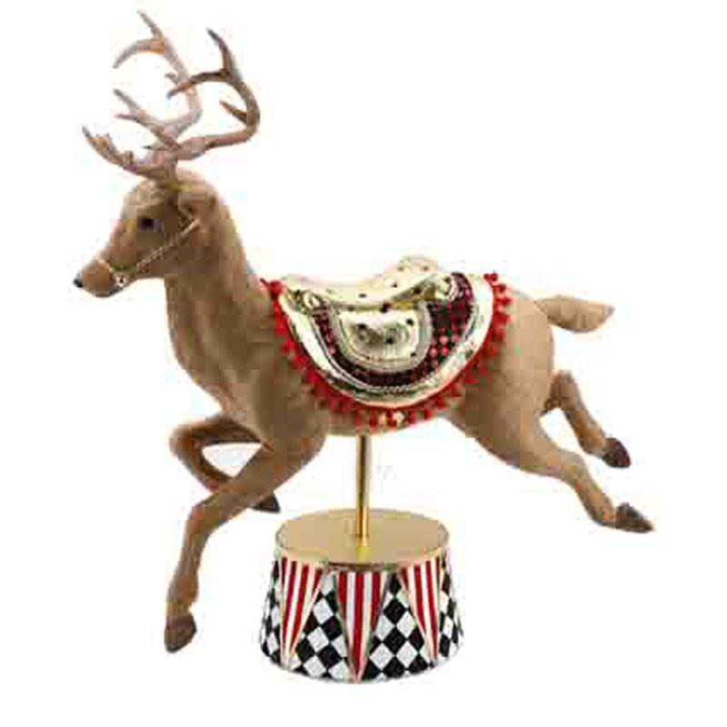 Renne cirque - Grossiste fleuriste décoration vitrine animaux Noël