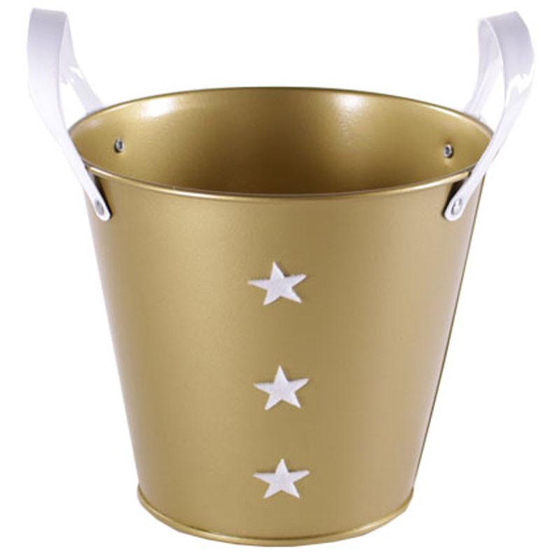 Pot rond étoile avec poignées - Grossiste fleuriste contenant Renaud