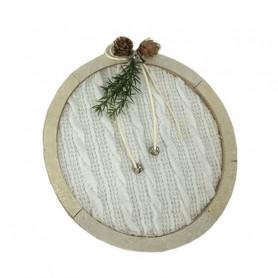 Boule décoration tricot - Grossiste fleuriste déco vitrine Noël Renaud
