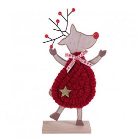 Rennes à lainage - Grossiste fleuriste décoration animaux vitrine Noël