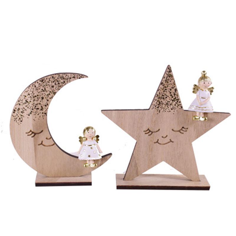 Assortiment décoration Lune et Etoile - Grossiste fleuriste décoration
