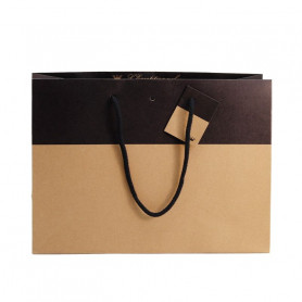10 sacs en Kraft noir Maelys