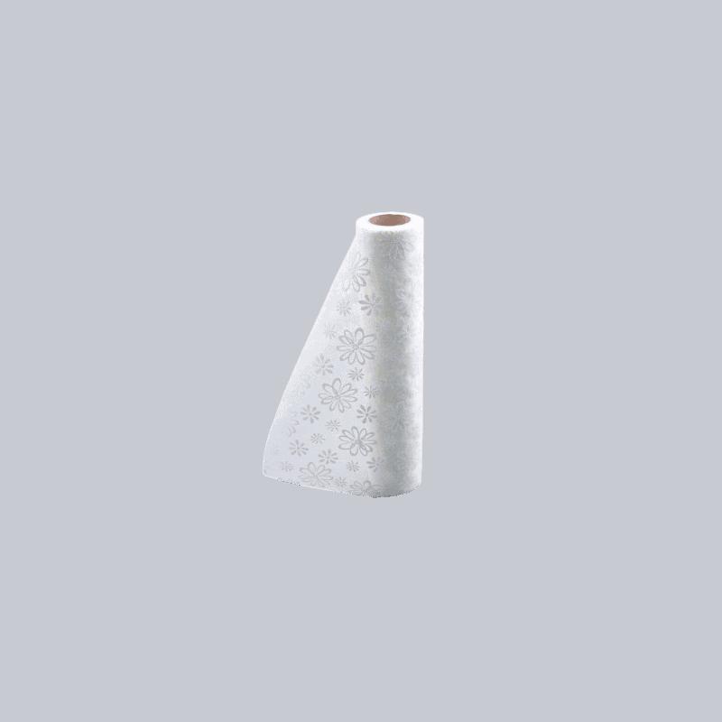 Chemin de table en coton fleurs - 22cm x 2m - grossiste déco