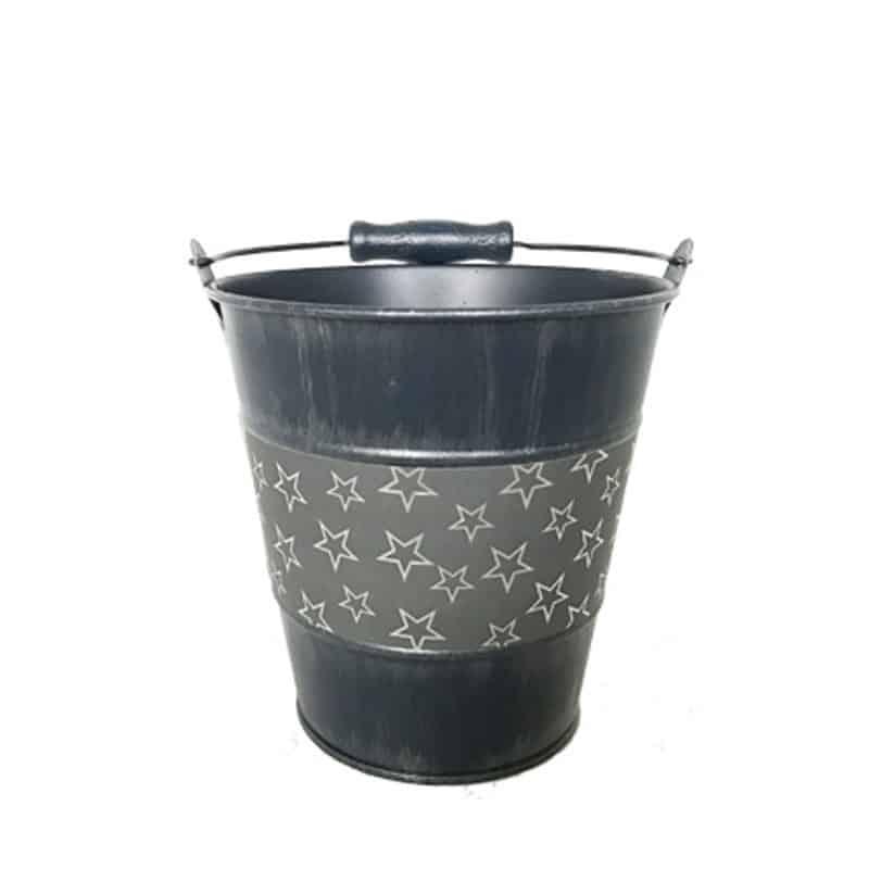 Pot rond avec frise étoiles - Grossiste fleuriste contenant céramique