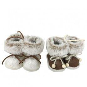 Boots d'hiver assorties - Grossiste fleuriste décoration vitrine Noël