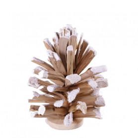 Pomme de pin givrée - Grossiste fleuriste décoration végétaux Renaud