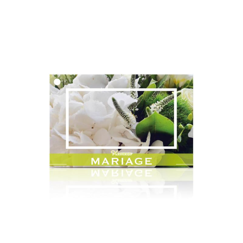"""Carte """"heureux mariage"""" x10 - grossiste carterie fleuriste"""