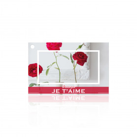 "Carte ""parce que je t'aime"" Lesa x10 - grossiste fleuriste carterie"