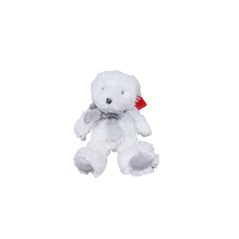 Ours avec nœud patch Elton H.30cm - grossiste déco enfant