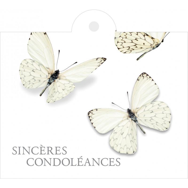 """Carte + enveloppes """"sincères condoléances"""" x 12 Juls - grossiste fleuriste"""