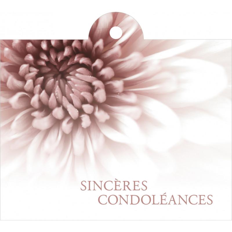 """Carte + enveloppes """"sincères condoléances"""" x 12 Julmi - grossiste fleuriste"""