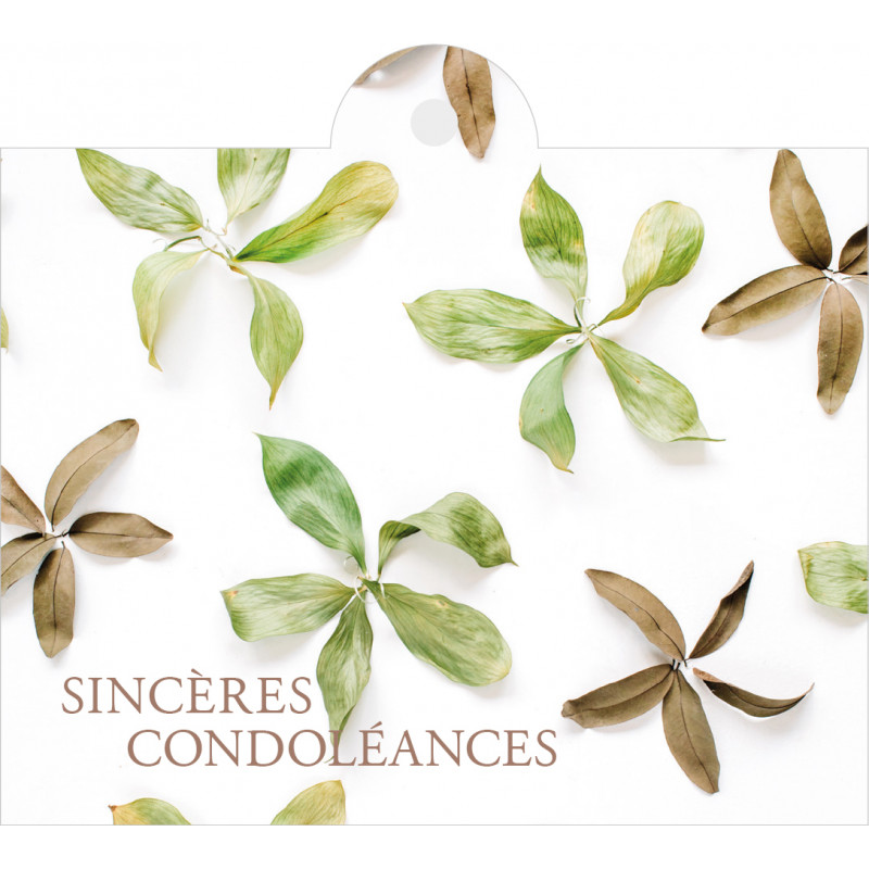 """Carte + enveloppes """"sincères condoléances"""" x 12 Julma - grossiste fleuriste"""