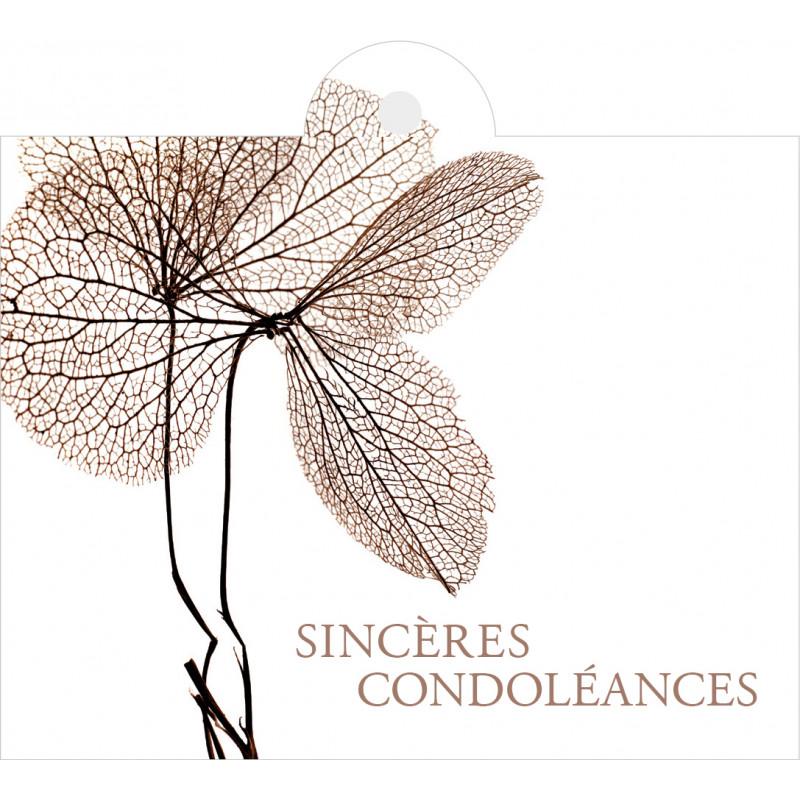 """Carte + enveloppes """"sincères condoléances"""" x 12 Julio - grossiste fleuriste"""