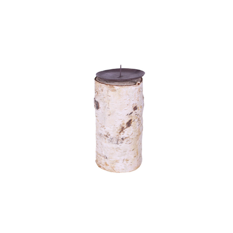 Bougeoir en bois Milop - D. 8cm x H. 22cm - grossiste fleuriste