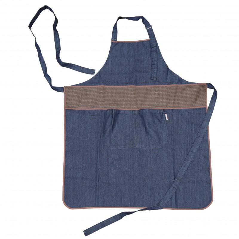 Tablier long jean 2 poches - switty