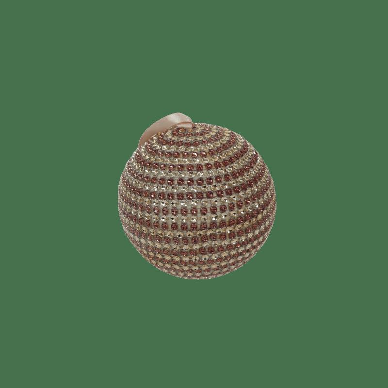 Boule or/marron D. 6.5cm - grossiste déco noël