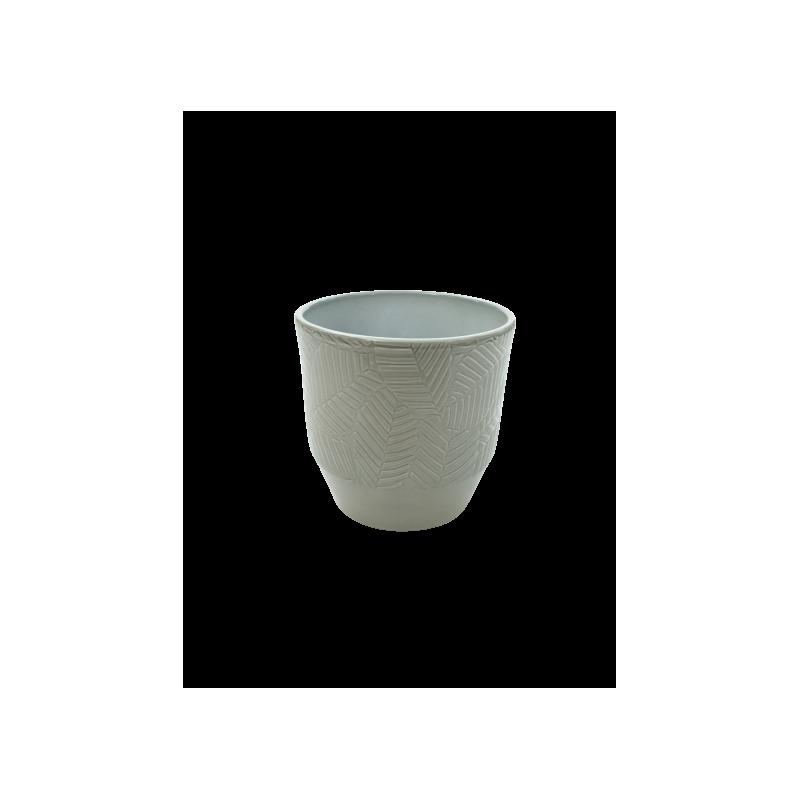 Pot motif Pisara D. 13.5 x H. 13cm - Plusieurs couleurs - grossiste fleuriste déco