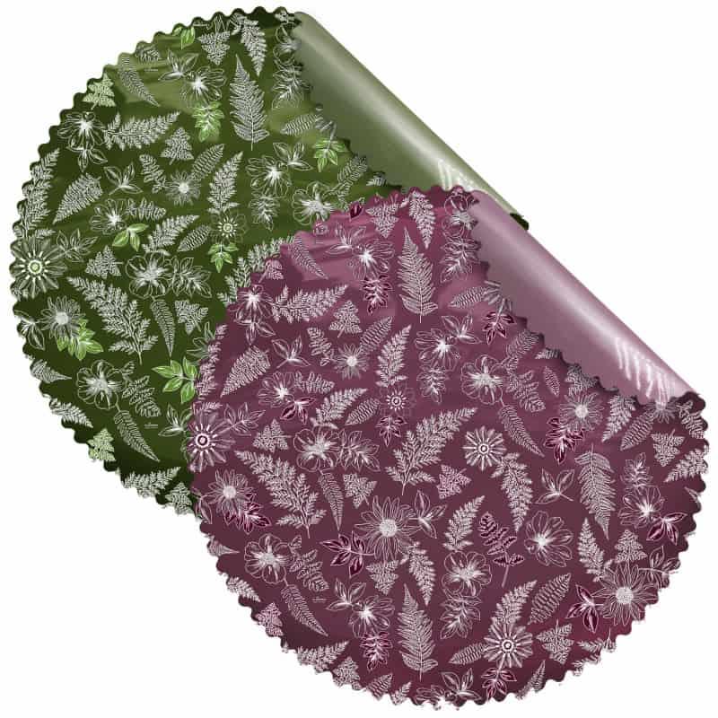 Collerettes nacrées D.98cm 2 couleurs différentes 40 feuilles - Viollytta