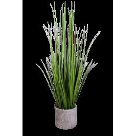 Herbe en pot Gema - H. 65cm - décoration grossiste