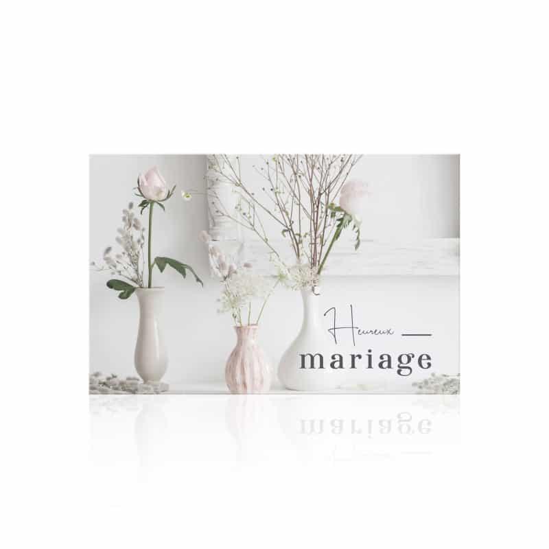"""Carte """"Heureux mariage"""" Romantico - grossiste fleuriste"""