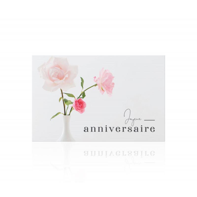 """Carte """"Joyeux anniversaire"""" Romantico - grossiste fleuriste"""