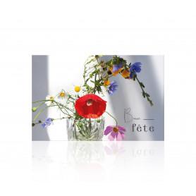 "Carte ""Bonne fête"" Romantico - grossiste fleuriste"