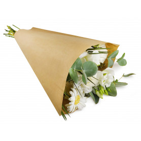 Cône de kraft Fabea -  3 tailles disponibles - grossiste fleuriste
