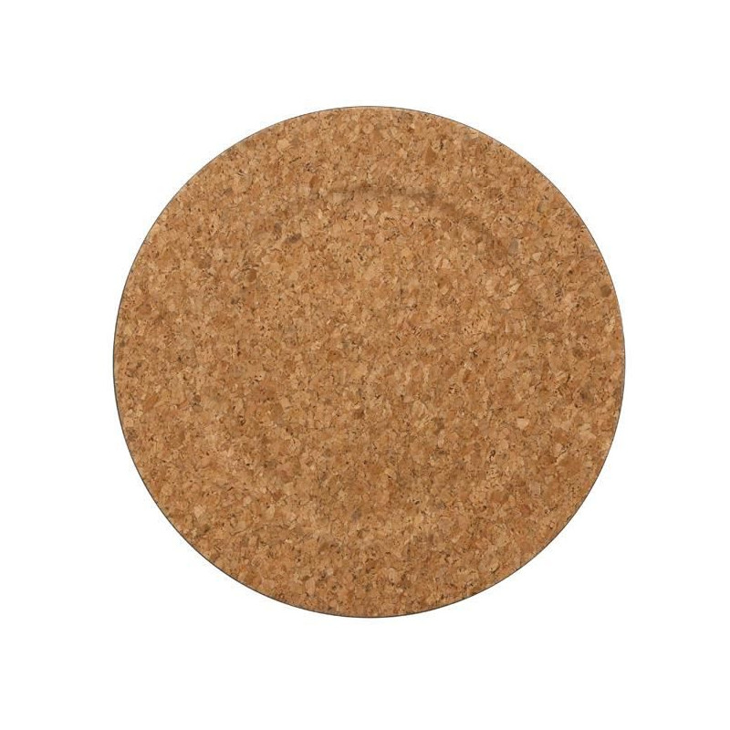 Assiette ronde en liège Hada - D. 33cm - grossiste art de la table