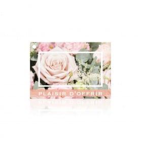 "Carte brillante ""Plaisir d'offrir"" - Romantiko"